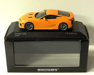 minichamps 1 43rd lexus lfa 2011 orange 400 166020 new ebay. Black Bedroom Furniture Sets. Home Design Ideas
