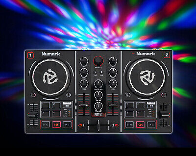 Numark Party Mix Virtual DJ Controller w/ Built In Light Show+Sound Card, used for sale  Shipping to South Africa