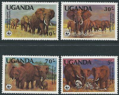 UGANDA - WWF 1983 'AFRICAN ELEPHANTS'  Set of 4 MNH SG406-408 [A5876]