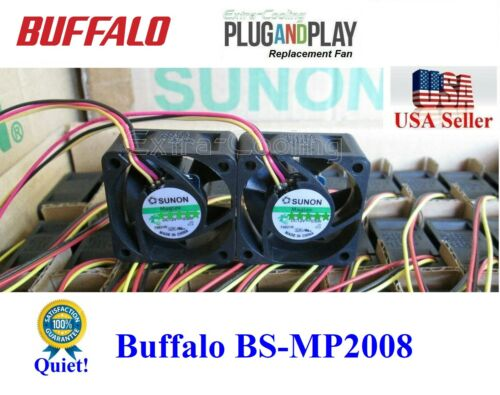 2x*Quiet* Replacement Fans for BS-MP2008 Buffalo Gigabit 8 Port Business Switch