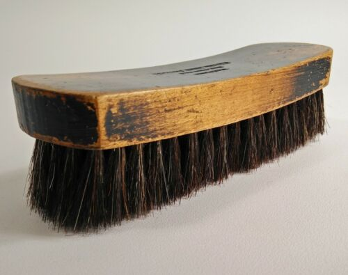 Esquire Boot Shoe Brush Polish Buffing Horsehair Wooden 6.75""