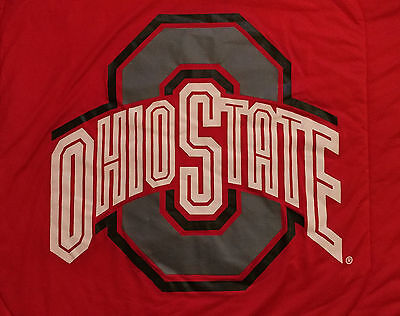 Vtg. Ohio State Locker Room Collection XXL Red Blanket Comforter Full