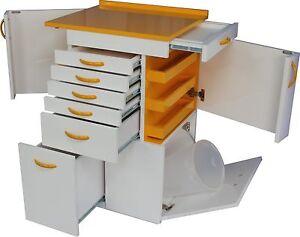 Dental Medical Lab Mobile Cabinet 2 Side Doors