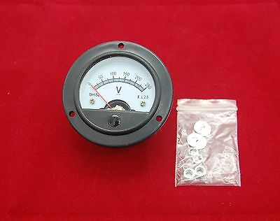 Dc 0-250v Round Analog Voltmeter Voltage Panel Meter Dia. 66.4mm Dh52