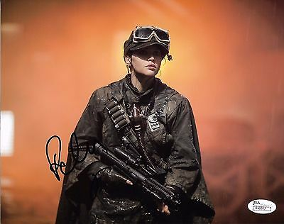 Felicity Jones Rogue One Autographed Signed 8X10 Photo Jsa Coa  5