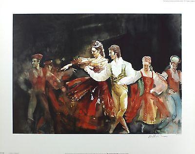"BARNES-MELLISH ""Muzurka from Coppelia"" ballet SGD LTD! SIZE:55cm x 70cm NEW RARE"