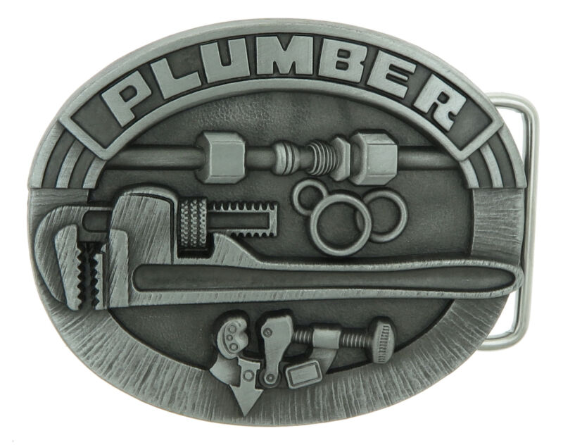 Plumber  Trade Tradesman Original Metal Belt Buckle