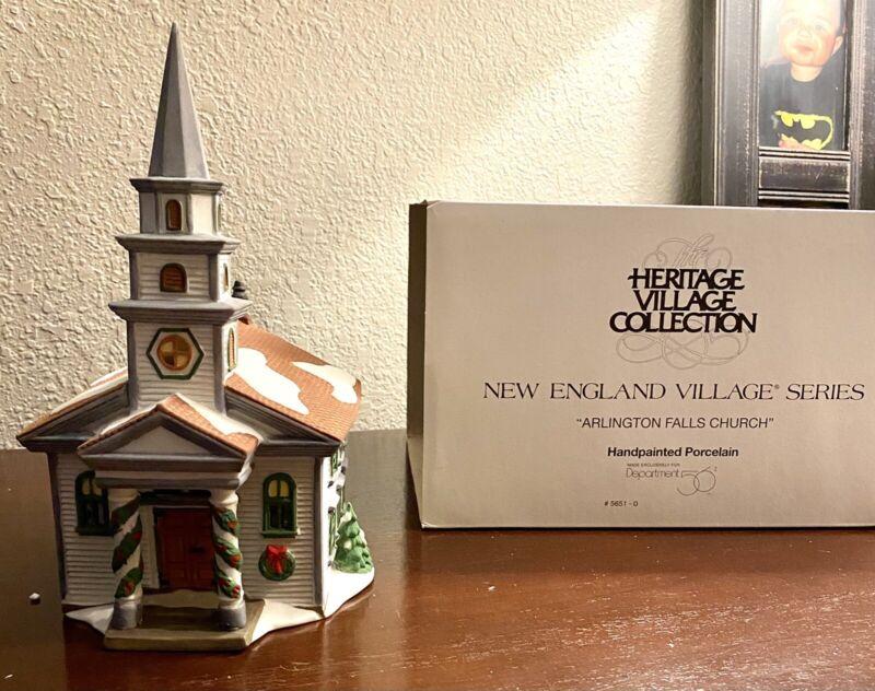 Dept 56 New England Village Series Arlington Falls Church