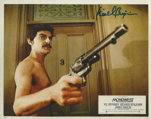 RICHARD BENJAMIN SIGNED AUTHENTIC 'WESTWORLD 1973' 8x10 MOVIE PHOTO w/COA ACTOR