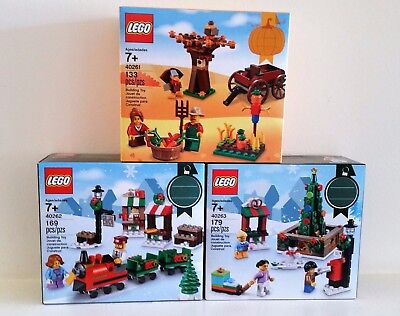 LEGO 2017 Seasonal HOLIDAY SETS THANKSGIVING CHRISTMAS 40261 40262 40263