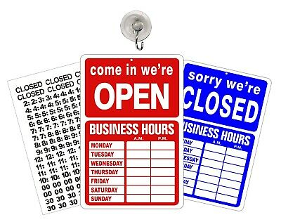 Open Closed Business Open Hours Sign Store Hours Of Operation Window Glass Door