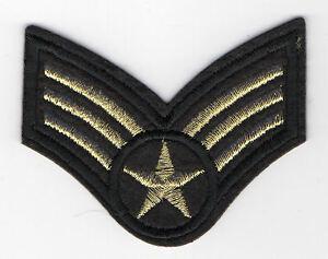 US Airforce Sergeant goldfarben Aufnäher Bucket Sergeant United States Patch
