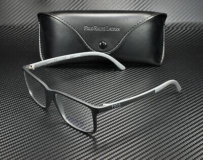 RALPH LAUREN POLO PH2126 5534 Matte Black Demo Lens 53 mm Men's (Polo Glasses For Men)