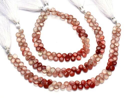 "Natural Gem Andesine Labradorite 6.5mm Size Smooth Heart Shape Beads 8.5"" Strand"