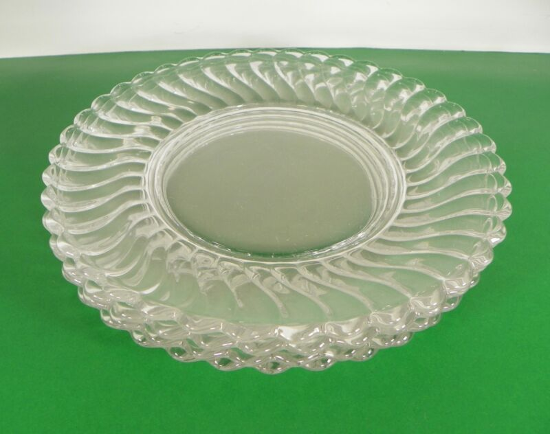 Fostoria Crystal COLONY Salad Plate (s) LOT OF 4 Vintage Elegant Glass