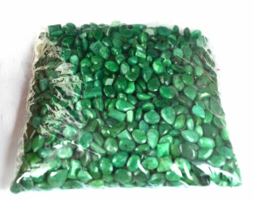 Green Emerald Loose Gemstone Wholesale Lot 5000 Ct. Natural Mix Shape Brazilian