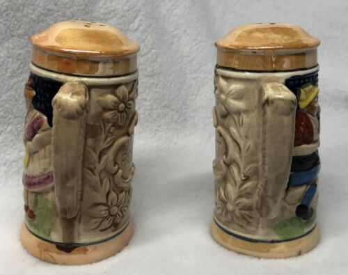 Vtg Salt And Pepper Shakers Nikoniko Import-Hand Painted Japan Man And Woman - $22.00