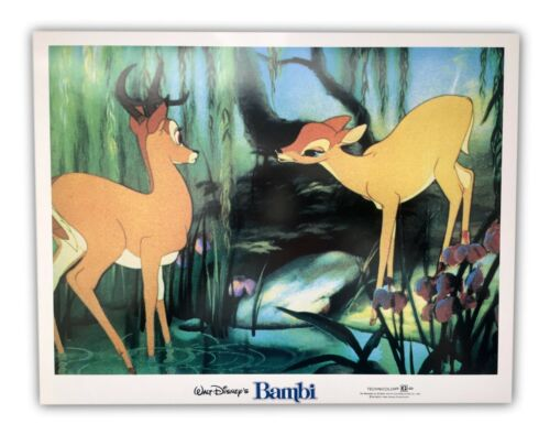 """Bambi"" Original 11x14 Authentic Lobby Card Poster Photo 1982 Walt Disney #4"