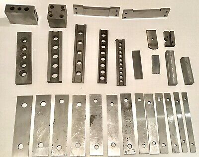 Nice Lot Machinist Blocks V Block Parallels Set Up Excellent Condition