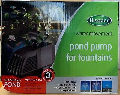 Blagdon Minipond Pond Pump 900 to Run Fountains for Standard Ponds up to 2250L