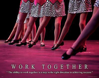 Ballet Dance Motivational Poster Art Print Shoes Flats Tutu Leotard Skirt MVP251
