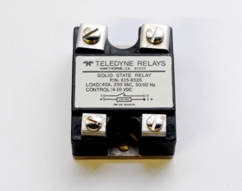 Teledyne 40 amp 250 VAC solid state relay p/n 615-8525