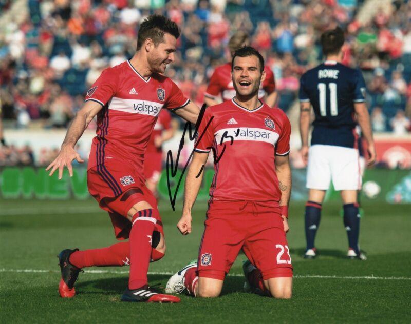 Nemanja Nikolic signed 8x10 Photo w/COA Chicago Fire MLS Soccer