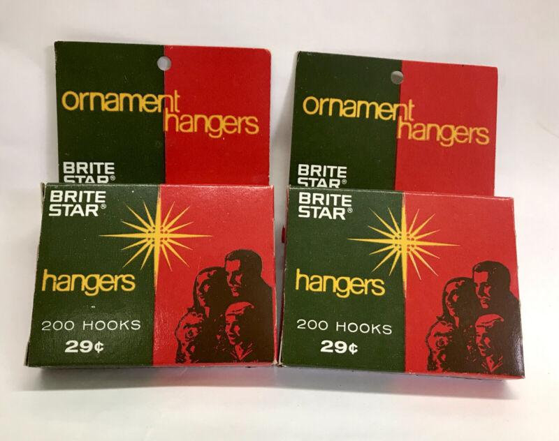 2 Boxes NOS Vintage Brite Star Christmas Tree Ornament Hangers Mfg Phila Pa. 29c