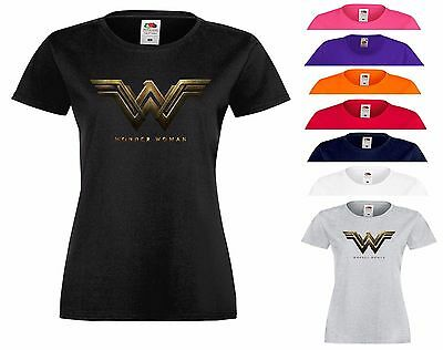 Wonder Woman T Shirt Logo DC Comics Movie Fans Halloween Xmas Gift Top Tee S 2XL