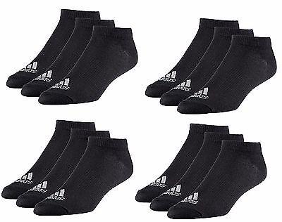 12 x Adidas Sneaker Knöchel Lightweight Socken schwarz weiß Gr.35-50