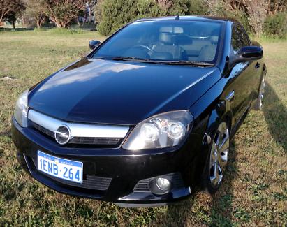 2006 Black Holden Tigra Convertible