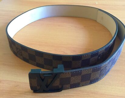 Louis Vuitton Black and Brown leather Belt