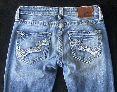 2ca9d892216 Buckle BKE Big Star Remy Low Rise Fit Womens Blue Jeans Size 25-R Regular  EUC