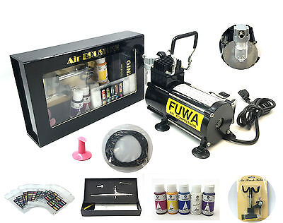 USA Fuwa 1/8 HP Airbrush Air Compressor Nail System Kit For Nails Tattoo Tanning