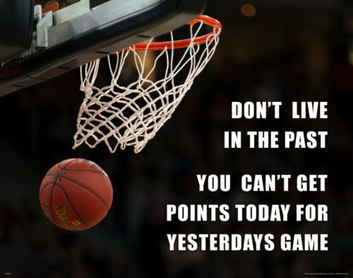 Basketball Motivational Quote Poster Art Print NBA Wall Decor Live In The Past