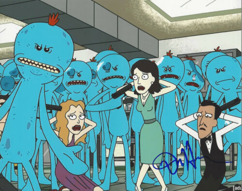 DAN HARMON - RICK AND MORTY CREATOR - SIGNED MR. MEESEEKS 8X10 PHOTO w/COA PROOF