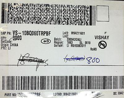Vs-10bq060pbf Vishay Diode Schottky 60v 1a Smb Rohs 24 Pcs Free Shipping