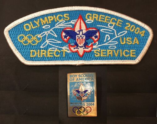CSP Direct Service Greece Olympics 2004 Patch & pin