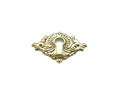 Key Plate - Keyhole Cover Antique Victorian Key Hole Cover Plate Furniture Cabinet Locks