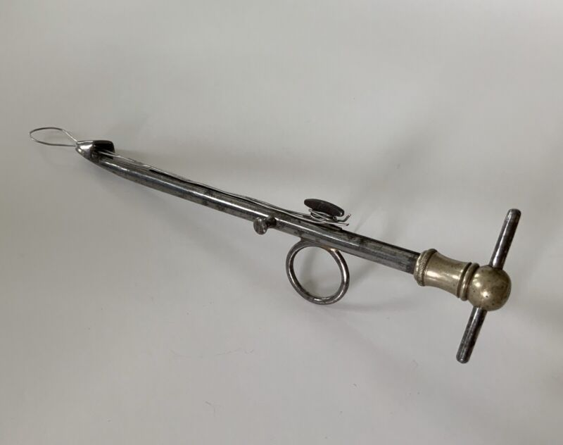 Antique Medical 1870s Surgeons Ecraseur Obstetrical Amputation Instrument