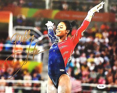 Gabby Douglas Signed Gymnastics 11X14 Photo  Gold Medalist Psa Ad34534