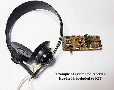 Simple 3-band Ham radio receiver direct conversion 7,14,21MHZ + Headset.KIT DiY. ()