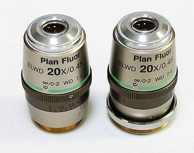 Nikon Plan Fluor 20x0.45 Elwd Dic Ln1 Microscope Objective Lens Inf0-2 Wd 7.4