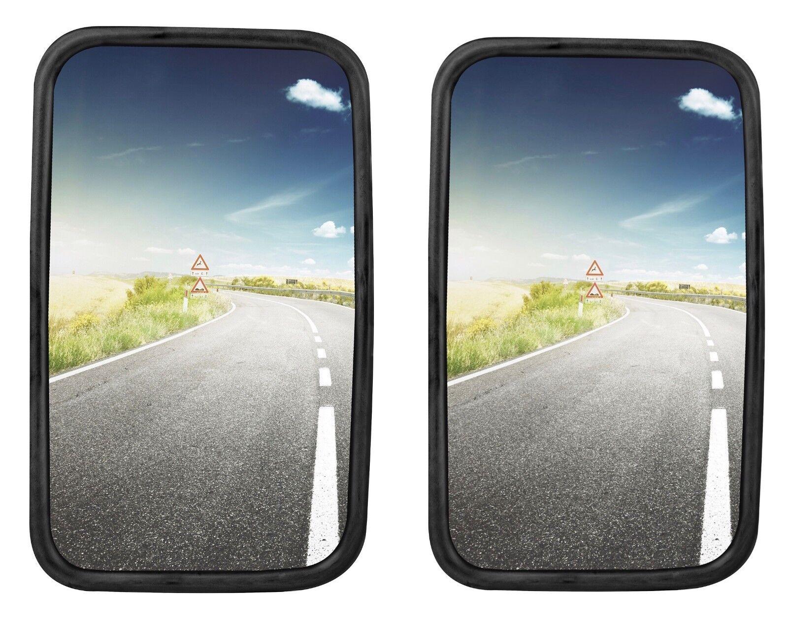 2x Universal LKW Außenspiegel Bus Traktor Wohnmobil 36,5 x 18 cm Seitenspiegel