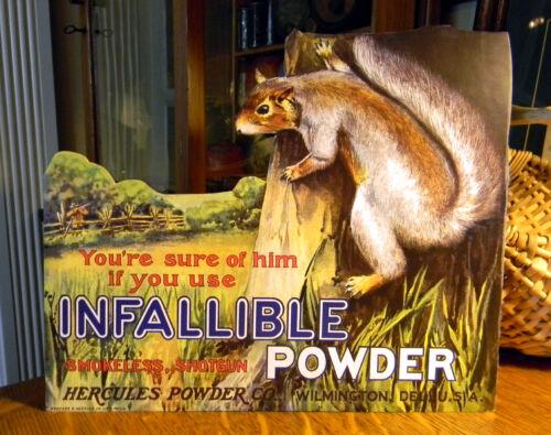REPRO Hercules Powder Co. Infallible Gunpowder with Squirrel Standing Adv