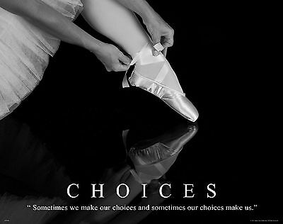 Ballet Dance Motivational Poster Art Print Shoes Flats Tutu Leotard Skirt Mvp381