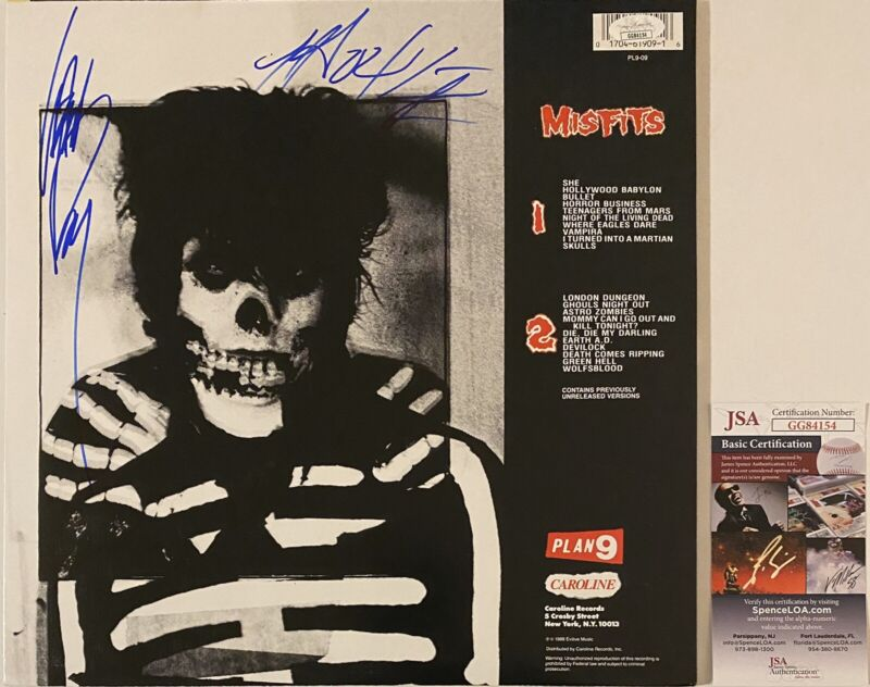 Misfits Signed Autographed Collection 2 Vinyl Record Glenn Danzig Doyle JSA COA