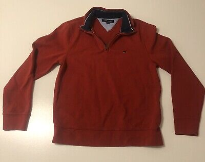 Tommy Hilfiger 1/4 Zip Pullover Red Sweater S