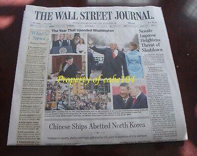 Wall Street Journal Newspaper ~ Donald Trump ~ First Anniversary ~ Jan 19, 2018