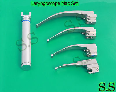 Laryngoscope Mac Set Emt With Aa Betteryo.r Drade Satin